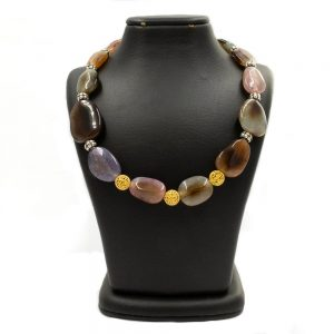 Necklace in Tourmaline and gold