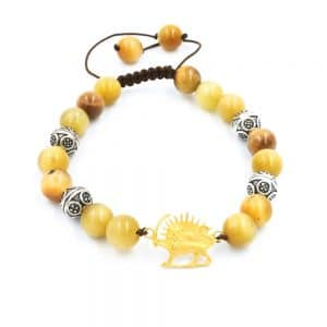 Primrose agate bracelet with Gold