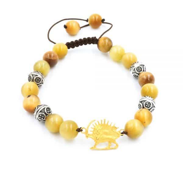 Primrose agate bracelet with Gold