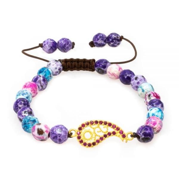 Bracelet in multicolor stones with gold