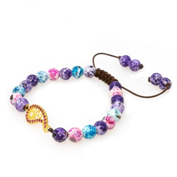 Bracelet in multicolor stones