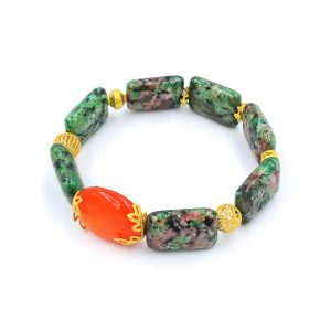 The sweet jasper bracelet with gold
