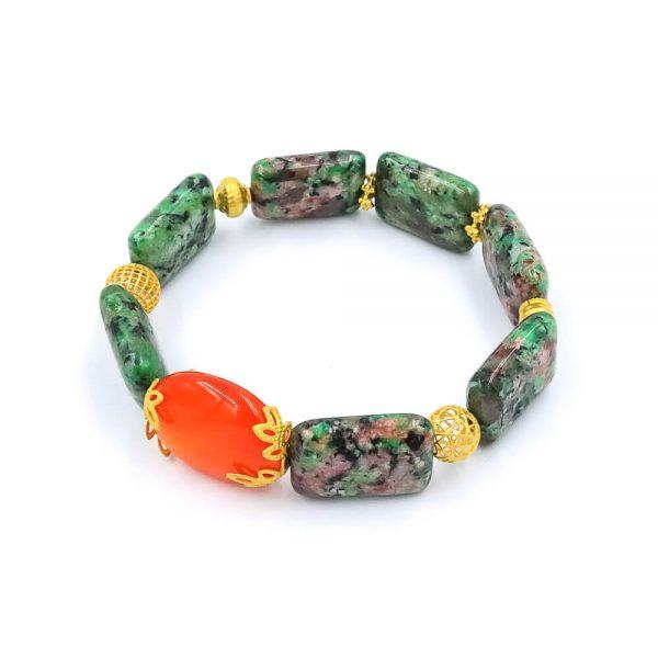 The sweet jasper bracelet with gold