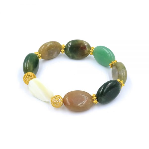 The Seashell jade bracelet with gold
