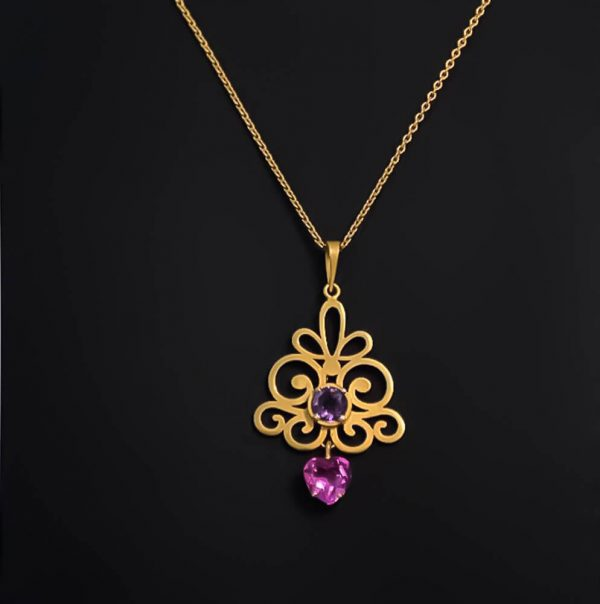 Arabesque designed Necklace in Gold