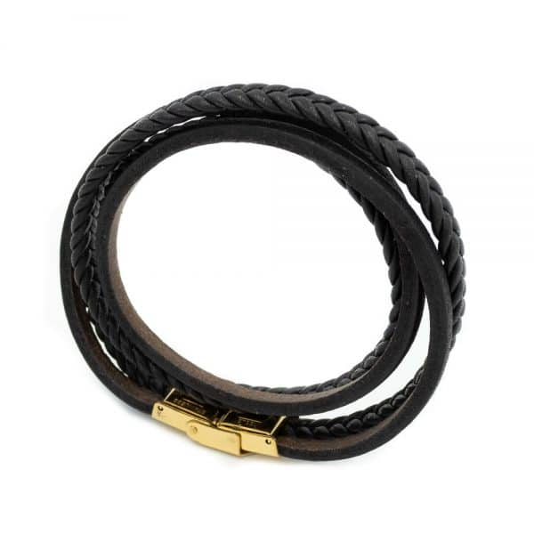 Leather braided bracelet for men