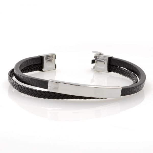 Narrow round charm bracelet