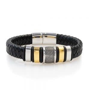 Wide charm bracelet