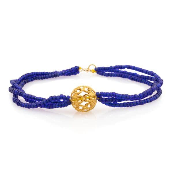 Bracelet in Lapis Lazuli Stones in 18K Gold