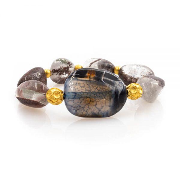 Meaningful Bracelet in Quartz Stones with 18K Gold