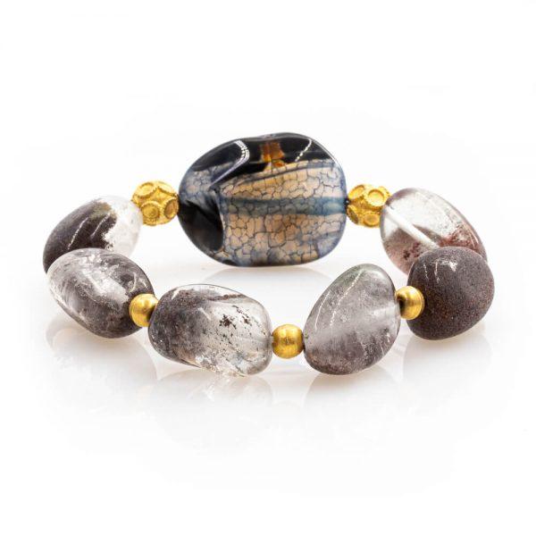 Empower Bracelet in Quartz with 18K Gold