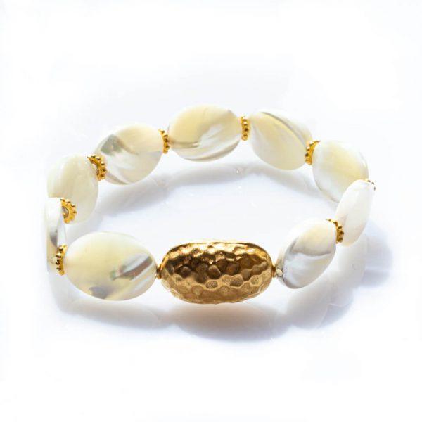 Bracelet in Seashells with18K Gold