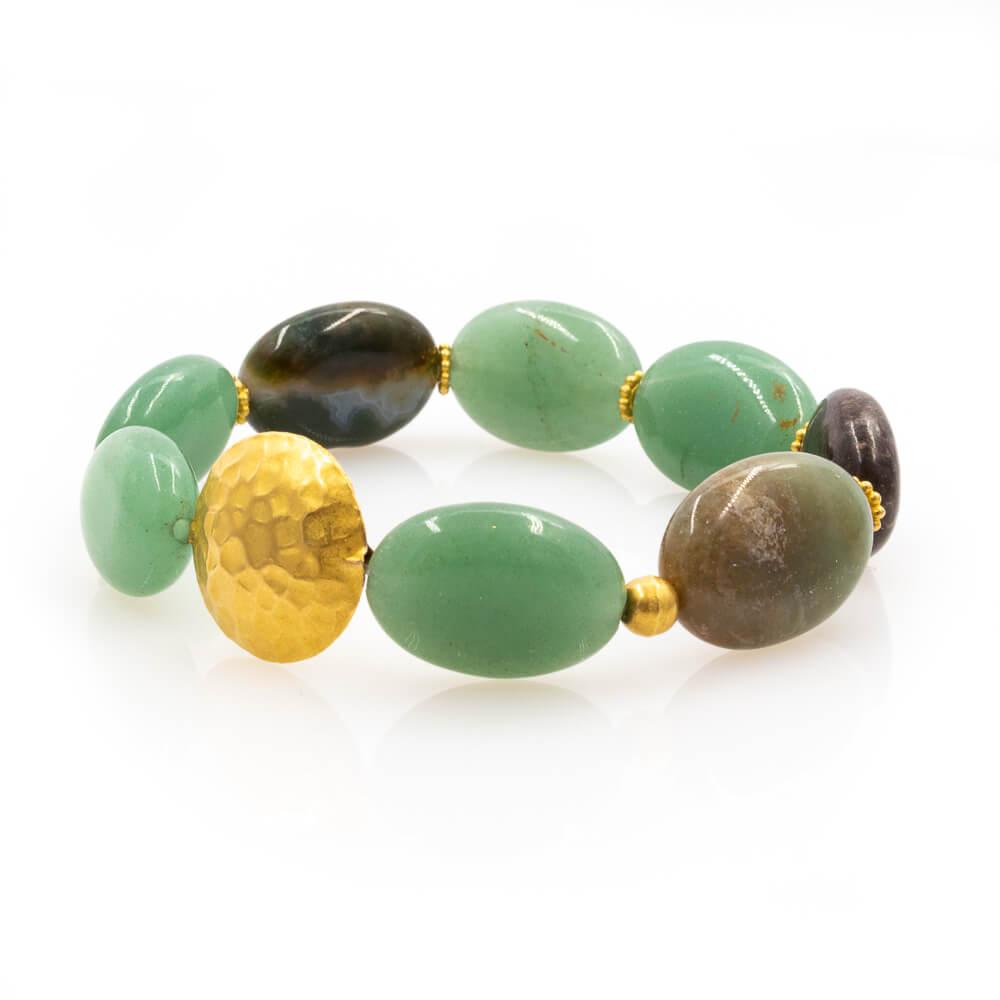 creative Bracelet in Aquamarine with 18K Gold