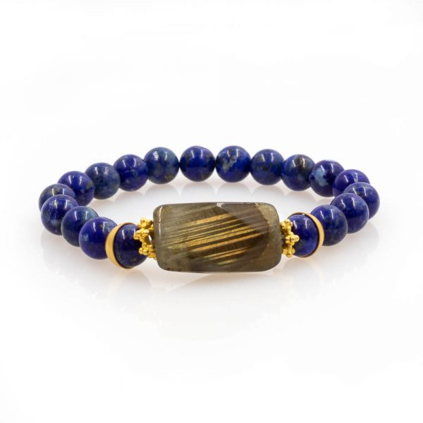 wondering Bracelet in Lapis Lazuli with 18K Gold