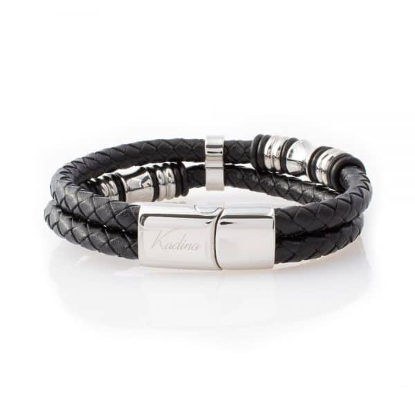 cool leather bracelet with Stainless Steel