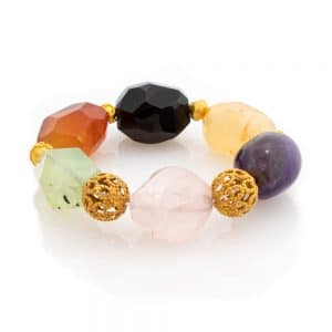 bracelet in multicolor stones and gold
