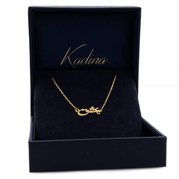 Love Design Bracelet with 18ca gold