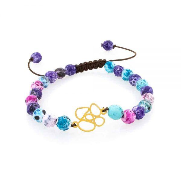 Bracelet in Multicolor Stones -Flower Design