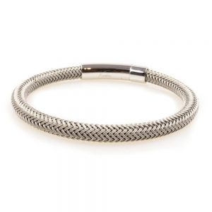 Steel silver Braided Bracelet