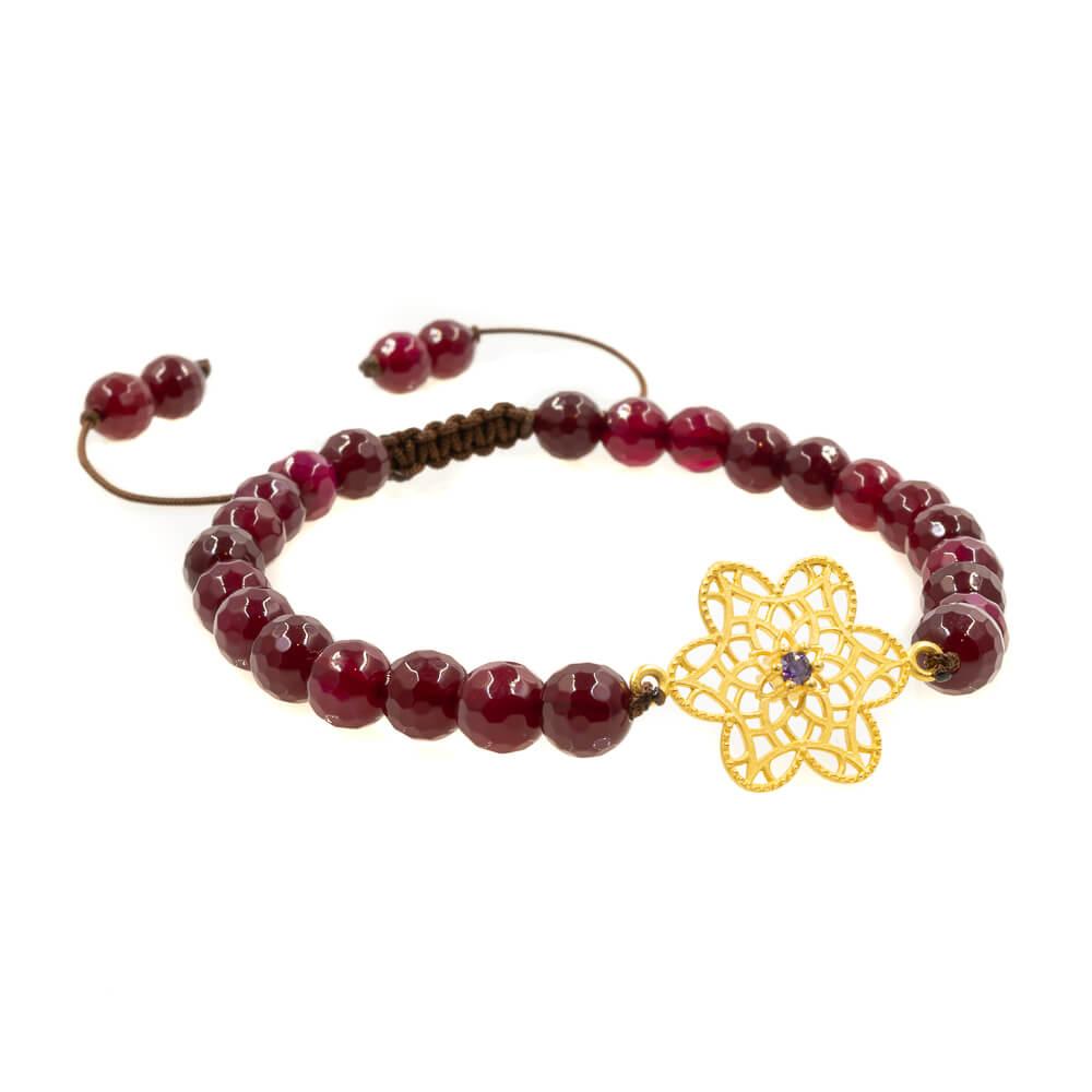 Braided Bracelet in Amethystine Agate