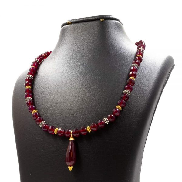 Necklace in Amethyst Agate 1