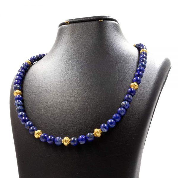 Necklace in Lapis lazuli Stones 2