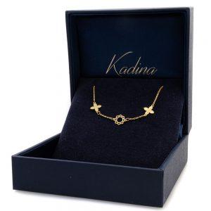 Gold Bracelet Clover Design