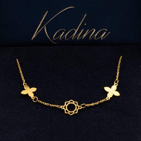 Gold Bracelet Clover Design 2