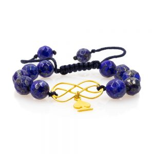 Lapis lazuli Stones Woven Bracelet 2