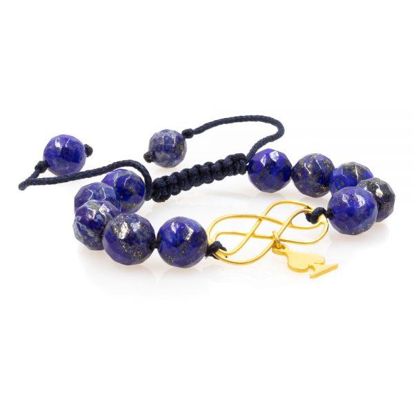 Lapis lazuli Stones Woven Bracelet 1