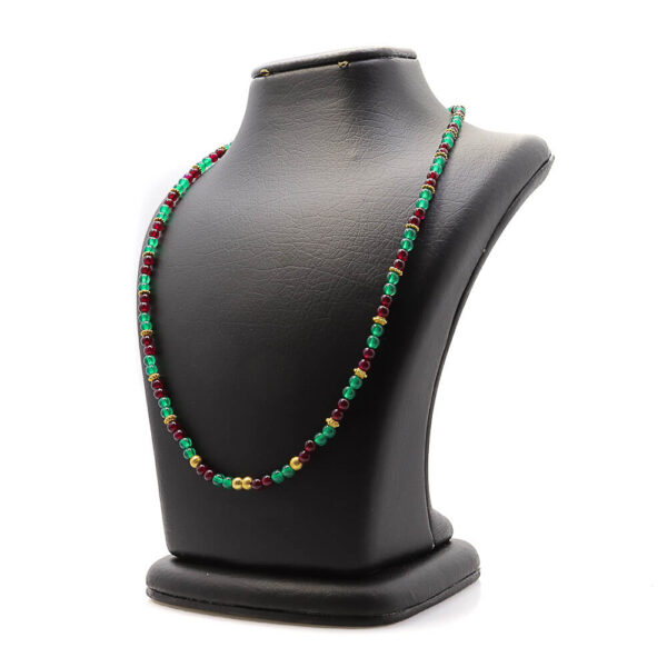 Harmony of colors necklace with agate
