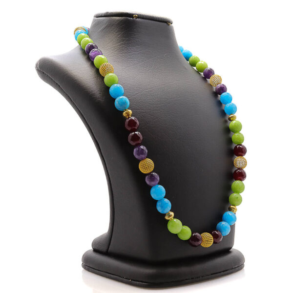 colorful handmade necklace in agate