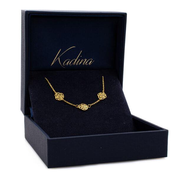 18 K Gold Bracelet – Flower Design