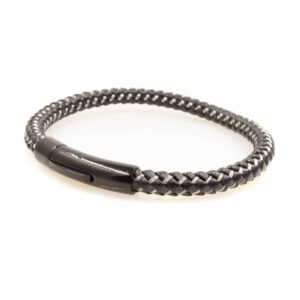 Black and Silver Braided Bracelet